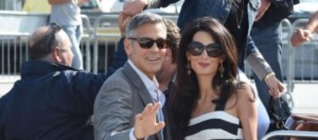Gli sposi al loro arrivo a Venezia