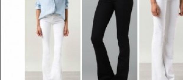 A calça flare e suas várias combinações