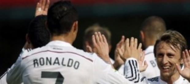 Los dos goleadores del partido de ayer