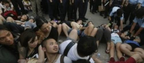 Terzo giorno di manifestazioni ad Hong Kong.