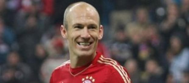 l'attaccante del Bayern Monaco Robben