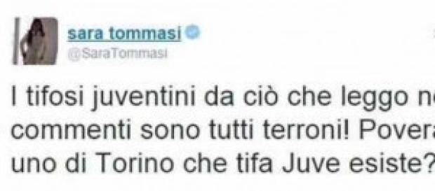 Sara Tommasi contro Juve e Lazio