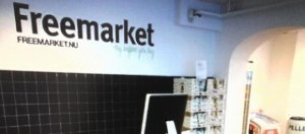 Un'immagine del Freemarket aperto in Danimarca