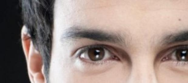 Un particolare del viso di Jonas Berami