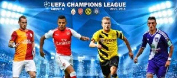 Champions League gruppo D, mercoledì 1 ottobre