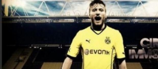 il bomber del Borussia Dortmund, Immobile.