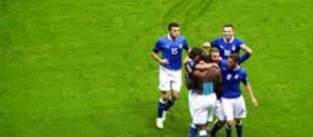 L'Italia vince contro l'Olanda di Hiddink