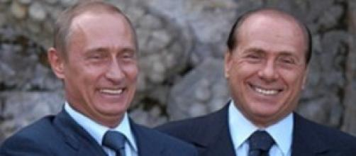 Vladimir Putin insieme a Silvio Berlusconi