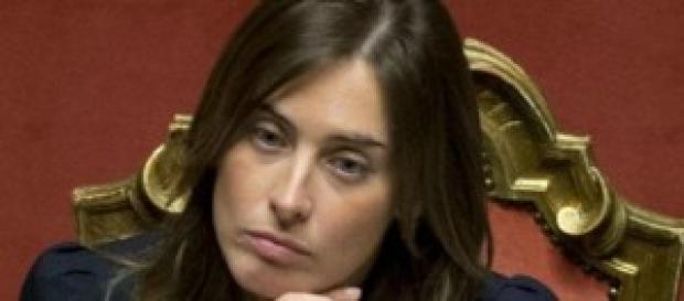 Maria Elena Boschi ospite a La vita in diretta.
