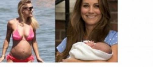 Michelle Hunziker e Kate Middleton ancora mamme.