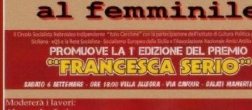 """Prima edizione del premio """"Francesca Serio"""""""