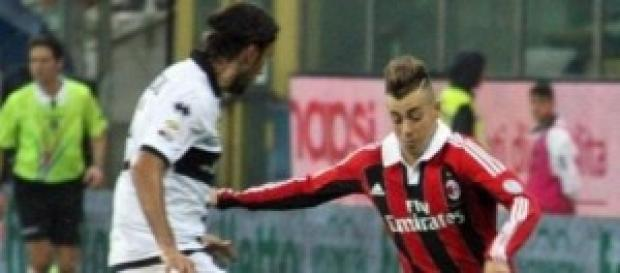 il giovane attaccante El Shaarawy