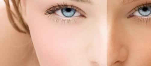 l'avant et l'après bronzage  !!