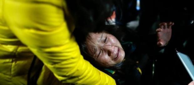 Em Xangai viveram-se momentos de terror.