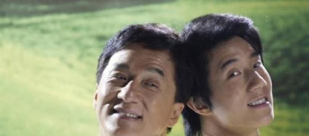 Jackie Chan junto a su hijo Jaycee