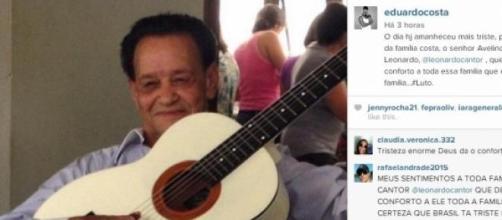 Instagram do Cantor Eduardo Costa