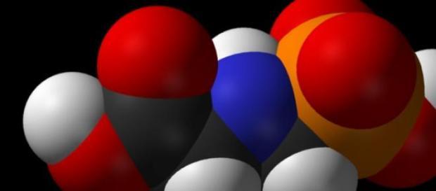 Molécula del herbicida Glifosato