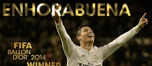 Cristiano Ronaldo ganador del Balón de Oro