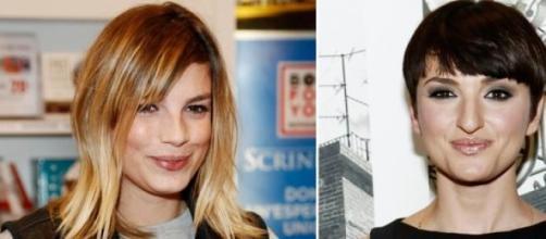 Emma Marrone e Arisa vallette a Sanremo 2015.
