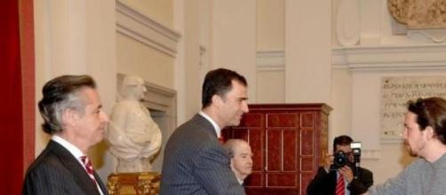 Iglesias, con el entonces Príncipe de Asturias