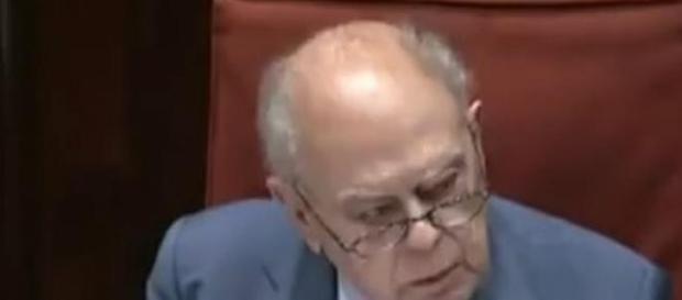 Jordi Pujol en el Parlament de Cataluña.