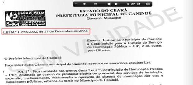 Lei nº 1772/2002 sem validade