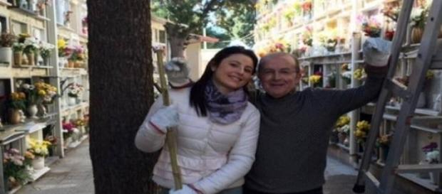Nino Zimbalatti e Angela Marcianò al cimitero