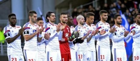L'équipe de L'OL vainqueur de Toulouse