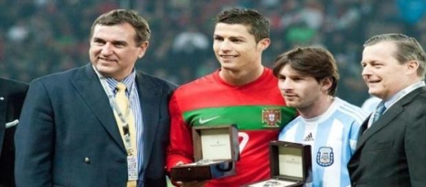 Cristiano Ronaldo y Messi con sus selecciones.