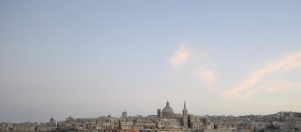 Widok na Vallettę, stolicę Malty