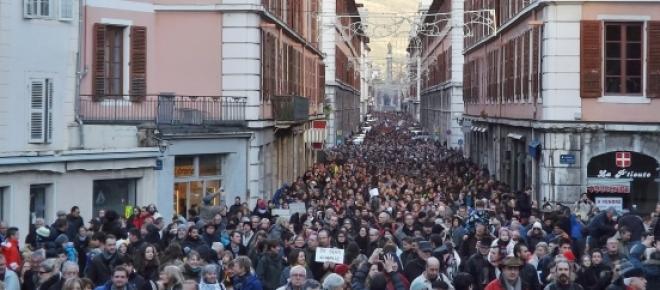 Marcha contra o terrorismo em Paris