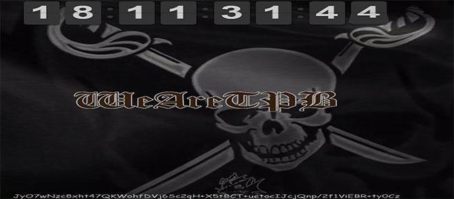 Página oficial do site The Pirate Bay