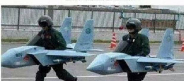 Los pilotos haciendo pruebas de vuelo