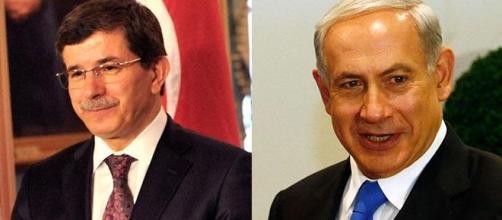 Ahmet Davutoğlu et Benjamin Netanyahu