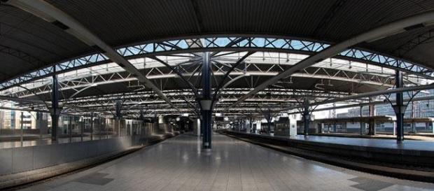 Les quais de la Gare du midi, Bruxelles.