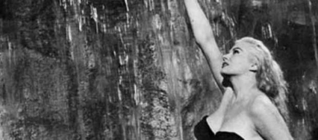 Anita Ekberg e 'La dolce vita' di Federico Fellini