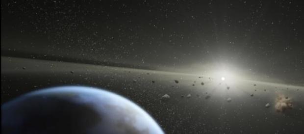 Asteroides participando en la formación de mundos