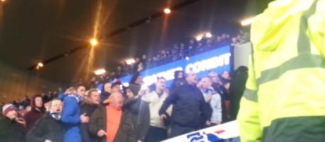 Rangers fans shout abuse at Ibrox
