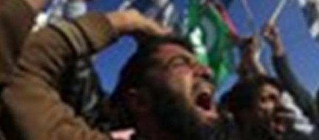 Imagem de uma das manifestações dos países árabes