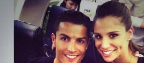 Cristiano Ronaldo com Lucía Villalón em Zurique