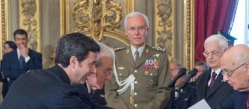 Il Ministro Orlando con Napolitano