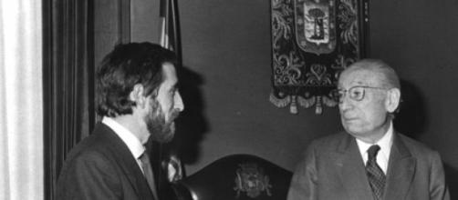 Juan Barranco con Tierno Galván