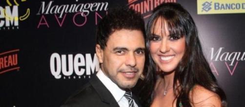 Zezé de Camargo e namorada Gracielle