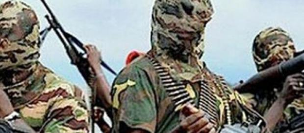 Kämpfer der nigerianischen Islamisten-Miliz.