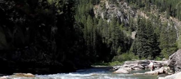 Raul Yellowstone din Montana, SUA