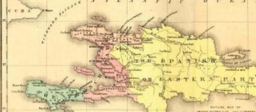 Hispaniola qui deviendra Haïti et St Domingue