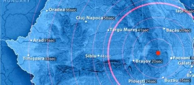 Cutremure in Vrancea, Romania