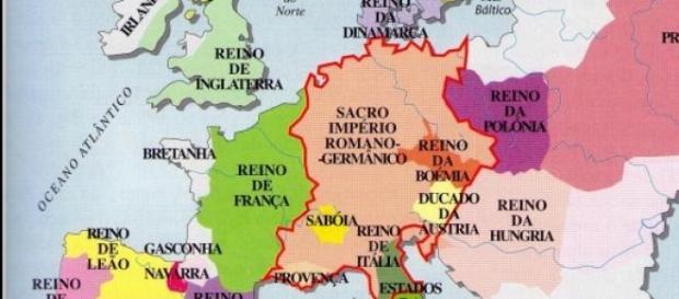 Europa no século XII. A base do mapa atual