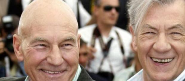 Los actores Patrick Stewart y Ian McKellen
