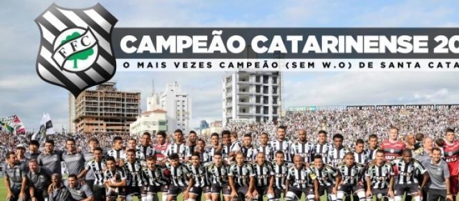 Figueirense foi o campeão 2014 (Foto: Reprodução)